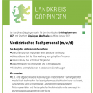 Medizinisches Fachpersonal (m/w/d)